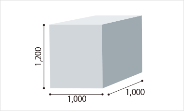 W1,000×D1,100×H1,200