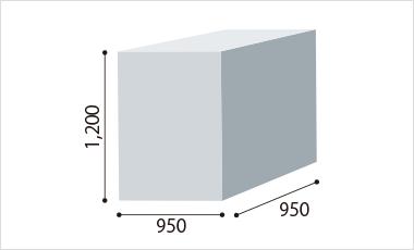 【L型】W950×D950×H1,200