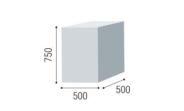 W500×D500×H750